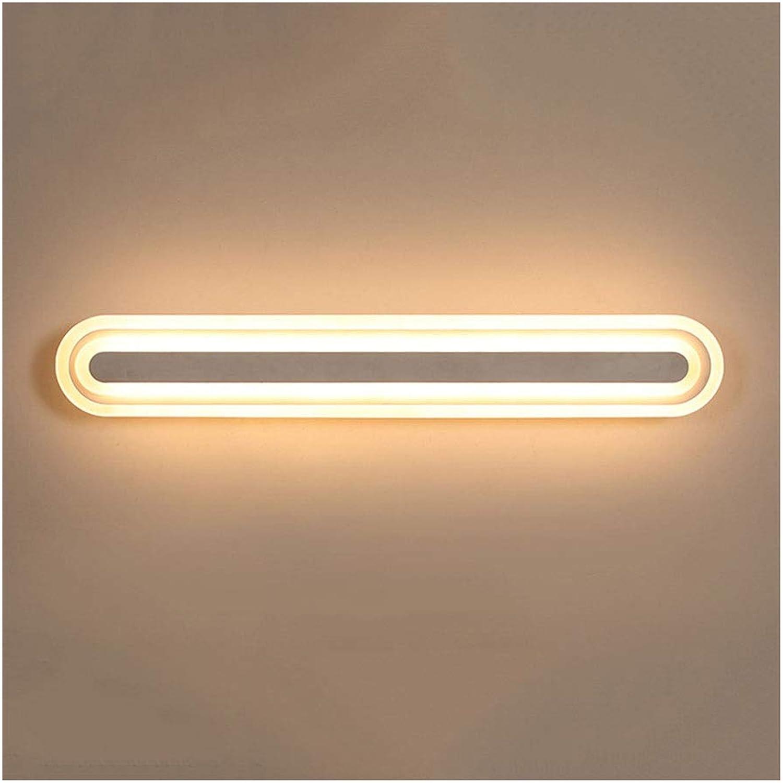 & Spiegellampen LED Wandleuchte Spiegel Scheinwerfer Bad Anti-fog Wasserdichte Spiegel Kabinett Licht Make-Up Lampe Nachttischlampe Badezimmerbeleuchtung (Farbe   Warmes licht-40 cm)