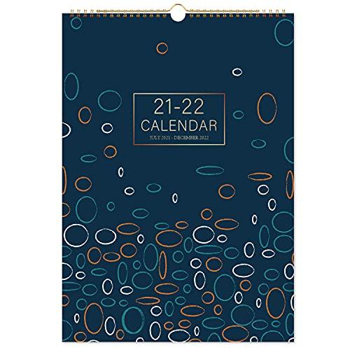 Calendario da parete 2021-2022 - Calendario 18 mesi luglio 2021 - dicembre 2022, 41 x 30...