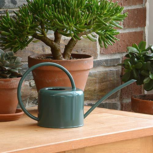 CKB LTD®, Gießkanne, 1,1 l, verzinkter Stahl, für Zimmerpflanzen, modernes Design mit schmalem Auslauf und hohem Griff