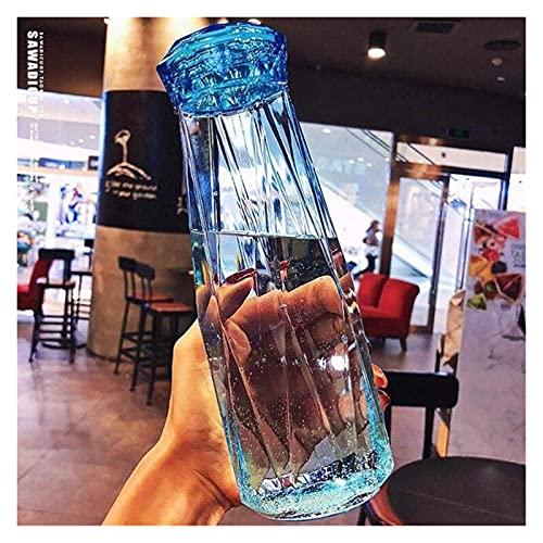 JSJJRFV Taza de Agua 500 ml Creatividad Botella de Agua de Vidrio Botella portátil Trata de tráfico Que Lleva para Beber la Taza de alumno al Aire Libre (Farbe : 4, Kapazität : 500ml)