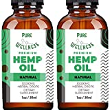 Hemp Oil Extract 30,000MG (2-Pack) – Powerful Fast Relief – Pure Hemp Oil - Anxiety Sleep Mood Stress Pain – Omega 3-6-9 Oils, Vitamins & Fatty Acids