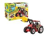 Revell 00815 Junior Kit-Traktor mit Frontlader und Spielfigur 4 der Bausatz mit dem Schraubsystem...
