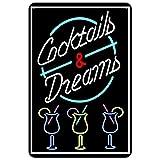 SanwoodenJ Neon City Night View Bar Decoración Letrero de Metal Cartel de Chapa Vintage Cartel...