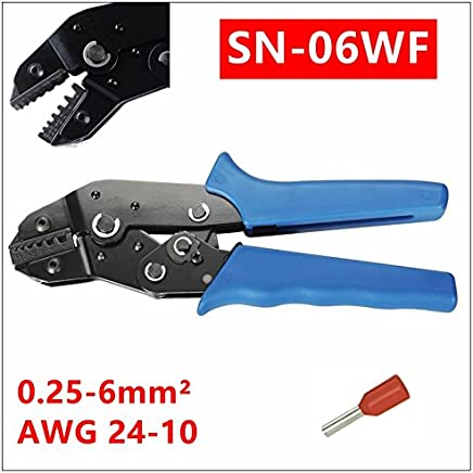 MXITA SN-06WF Crimpzange TAB 0,25-6 mm2 Werkzeug KFZ-Verbinder Crimpzange B0785JKXKC | Starke Hitze- und Hitzebeständigkeit