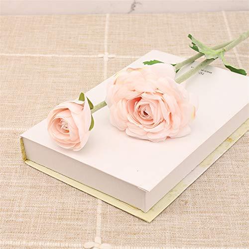 Flor Preservada Hermosa Rosa Seda Flores Artificiales Long Branch Bouquet Hotel Tienda Puerta Decoración Blanco Flores Falsas Boda Decoración del hogar Flor Artificial (Color : Pink)