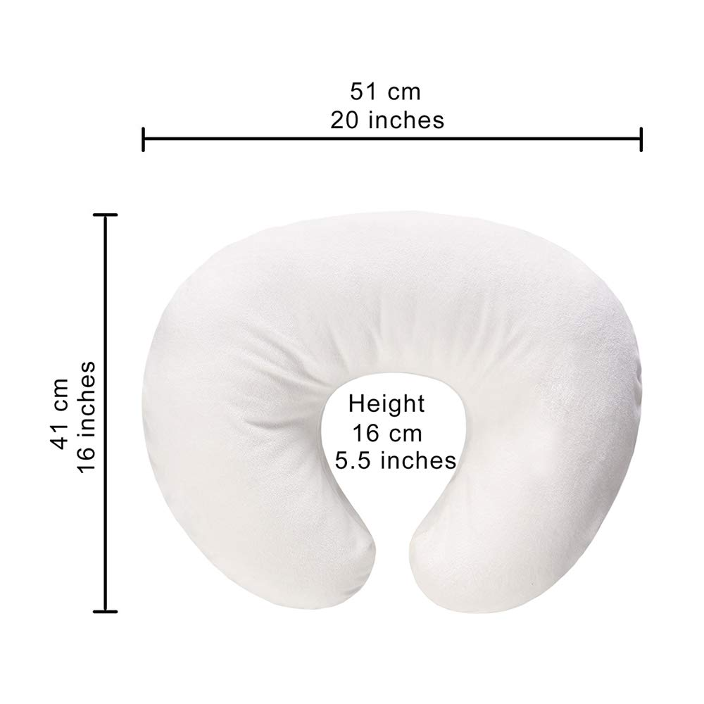 Nursing Pillow Cover, Pillow Slipcover, Waterproof Breastfeeding Pillow Protective Cover for Mom,Newborn Infant Soft Cotton Feeding Cushion Case for Boys and Girls(White)