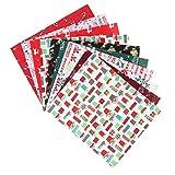 HEALLILY 10 Stücke Weihnachten Baumwolle Meterware