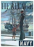 アメリカ海軍USS憲法オールドアイアンサイドヘリテージリクルートポスターとプリントアートポスターキャンバス絵画家の装飾キャンバスウォールアート50x75cmフレームなし