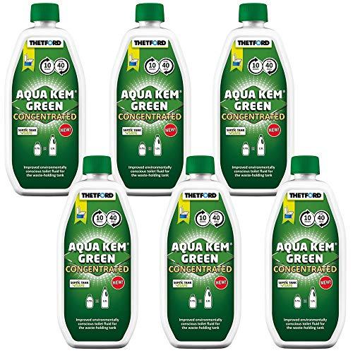 Thetford Lot de 6 produits chimiques concentrés Aqua KEM Green