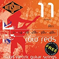 CUERDAS GUITARRA ELECTRICA - Rotosound (R/11) Medium/Roto Reds (Juego Completo 011/046E)