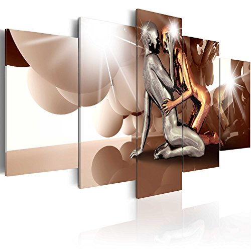 murando Quadro 200x100 cm 5 pezzi Stampa su tela in TNT XXL Immagini moderni Murale Fotografia Grafica Decorazione da parete Gestalt Persona Coppia Amore h-A-0046-b-p