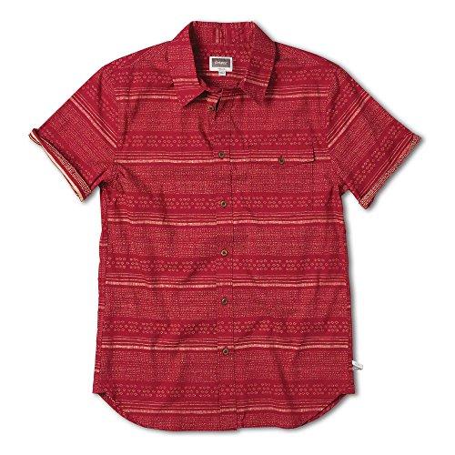 ALTAMONT Unisexe Chemise Fielder S/S T-Shirt Woven L Rouge