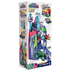 The PJ Masks are on their way, into the night to save the day with the PJ Masks 2-in-1 Mobile HQ. Kids will love recreating their favorite episodes by transforming the PJ Masks Headquarters into the PJ Seeker. As the Headquarters, the Mobile HQ stand...