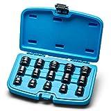Capri Tools 1/2 in. Drive Stubby Impact Socket Set, Metric, 10 to 24 mm,...
