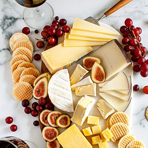 The Best of Europe Cheese Assortment 2 pound  Finest Gourmet European Cheeses  A Variety Of French Cheese English Cheese Italian Cheese and Spanish Cheese