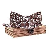 LILCAT Vintage Noeud Papillon En Bois De Dentelle DéLicate Fait Main,Allure Chic,Taille...