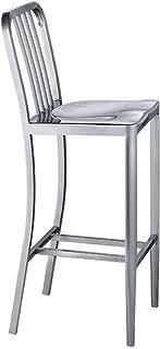 NMDB Chaise Haute Aluminium Moderne Moderne Tabouret Bar Tabouret Bar d acier Inoxydable Chaise exterieure Moderne Fer forge