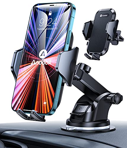 [Ultra-Stable] andobil Car Phone Mount, [All Road Conditions Friendly] 3-in-1 Universal Cell Phone Holder for Car Dashboard Air Vent...