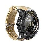 ZHICHUAN Smartwatch Outdoor Sports Camouflage-Stil Kostenloser Gebühr Ip67 Wasserdichte Bluetooth Lange Standby-Smartwatch-Fernbedienung Foto Lange Standby-Smart-Uhr, Grün klassisch