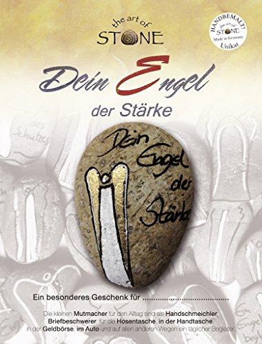 The Art of Stone handbemalter Stein, Dein Engel der Stärke, kleines Geschenk der Aufmerksamkeit aus Naturstein