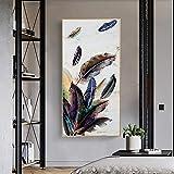 Moderno abstracto colorido arte lienzo pintura Cuadros impresión arte de la pared para la decoración del hogar de la sala de estar 50x100 CM (sin marco)