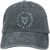 Bandanas Sombrerero de vaquero para adultos Shadowhunter con cierre a presión ajustable de mezclilla, talla única