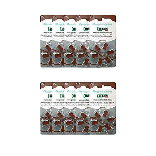 120 pile per apparecchi acustici modello 312 - lunga durata - Specialisti dell'Udito - Produttore Rayovac - composizione Zinco Aria - SPEDIZIONE GRATUITA