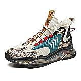 N\C Zapatos de hombre de gran tamaño de malla de verano transpirable zapatos deportivos casuales zapatos de suela gruesa zapatos viejos adecuados para correr y deportes al aire libre