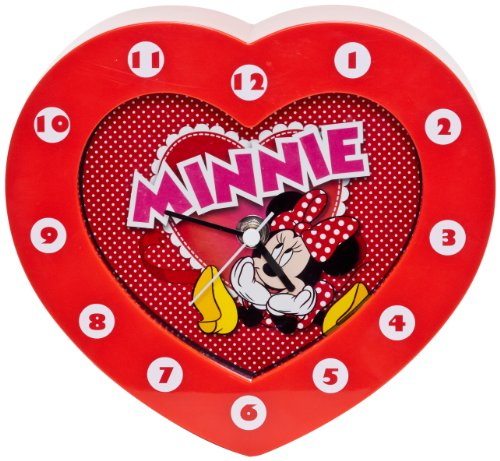 Disney Minnie wandklok hartvormig analoog 21762