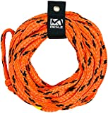 MESLE Tow Rope Bungee 4P 50', with Rope-Keeper, Floating Tube-Rope with Shock-Damper, Length 15,2 m 50',...
