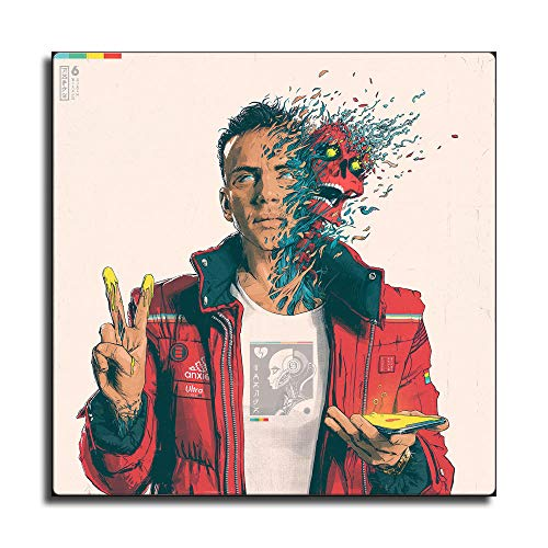 Confessions of A Dangerous Mind Logic Album Cover Rapper Hip Hop Canvas Art Poster and Wall Art Picture Print Modern Family Bedroom Decor Posters