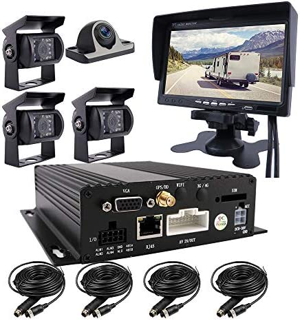 JOINLGO 4 CH 1080P AHD GPS Track Mobile Vehicle Car DVR MDVR Real time Cycle Video Recorder product image