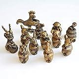 LNDDP Bronzo Antico Tea Pet 12 Set di Zodiaco Bastoncini di incenso Decorazione per Ornamenti Craft Collection Regali Regalo
