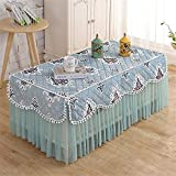 Tablecloths Household Dustproof Tablecloths Rectangular Tablecloths All Inclusive Cover Suitable for Living Room TV Cabinet Curtain Coffee Table Kitchen Tablecloth 09 50 * 110cm