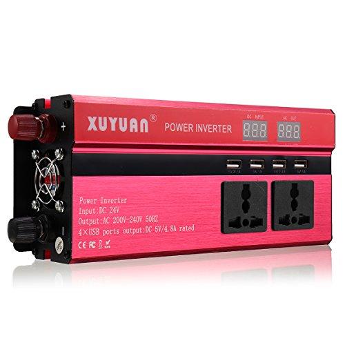 Tutoy 4000W 12V/24V Dc bis 110V/220V Ac Solar Strom Inverter LED Modifizierter Sinus Wandler - #3