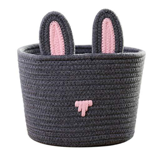 Miwaimao Juguetes de cuerda de algodón, cestas de almacenamiento tejidos cosméticos decoración del hogar
