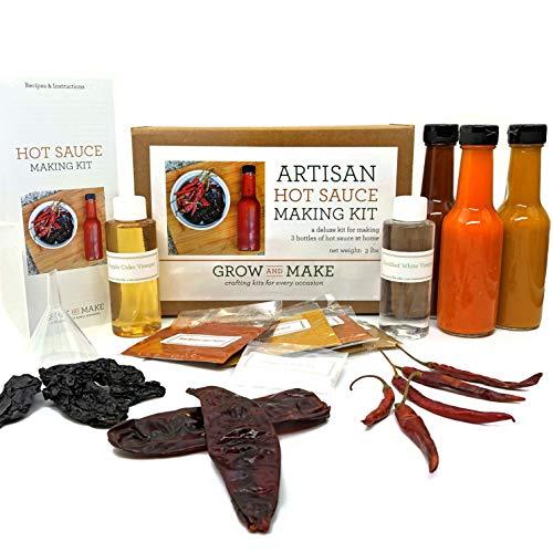 Grow and Make DIY Artisan Gourmet Hot Sauce Kit - Make 3 Unique Sauces at home!