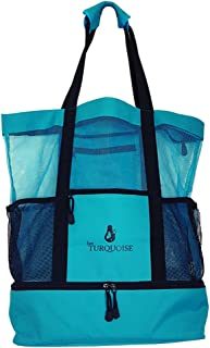 Mesh Beach Bag Cooler- Beach Tote with bottom cooler- Beach and Travel Bag for Woman and Men