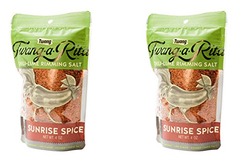 Twang-a-Rita Rimming Salt Varieties - 4 ounce pouch - (2 pack) (Sunrise Spice (Bloody Mary))