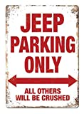KODY HYDE Metall Poster - Jeep Parking Only - Vintage