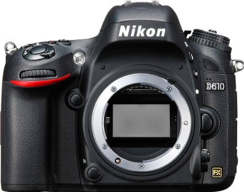 Nikon D610 Body Fotocamera Reflex Digitale, 24.3 Megapixel, LCD 3.2 Pollici, SD 32GB Lexar Pro, Nero [Nital card: 4 anni di garanzia]