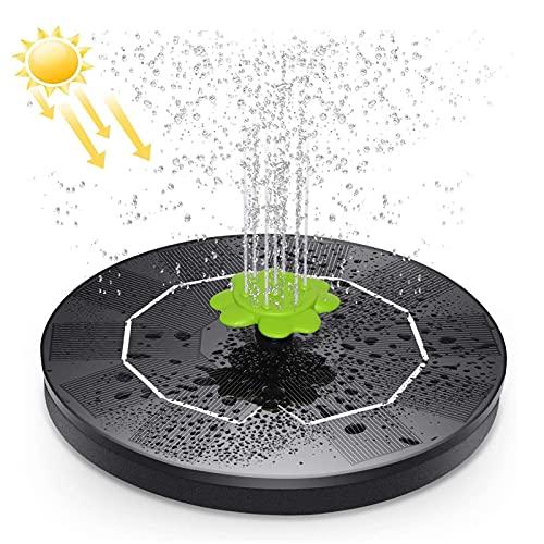 HYM Sonnenbrunnenpumpe Mit 9 Düsen 3w Schwimmende Solar-runde Wasserpumpe Für Gartendekoration, Automatischer Brunnen, Poolkreislauf, Vogelbad