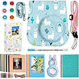 Katia Instant Camera Accessories Bundle Compatible for Fujifilm Mini 9 / Mini 8+ / Mini 8 Instant Film Camera. Includes Camera Case, Album, Frame, Stickers, Strap,etc - Alpaca