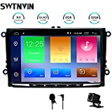 Aumume Autoradio Android 9.0 pour Skoda//Octavia 2009-2013 avec GPS Support Autoplay Mirrorlink Bluetooth Dab avec Carte 16 Go