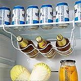 MeterMall Iron Storage Rack Can Beer Wine Bottle Holder Kitchen Refrigerator Wardrobe Organizer