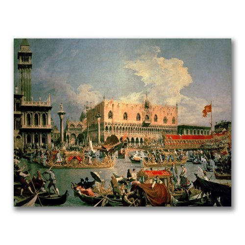 Return of the Bucintoro by Canaletto, 35x47-Inch Canvas Wall Art