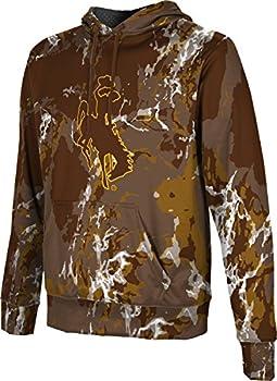 ProSphere University of Wyoming Men s Pullover Hoodie School Spirit Sweatshirt  Marble  FC5B2 Brown and Gold