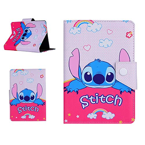 Tablet Case Stand Up Disney Cover Hero for Kids Children - Protective Tab Easy to watch (Amazon Fire 7 Tablet (7') 2015, Stitch)