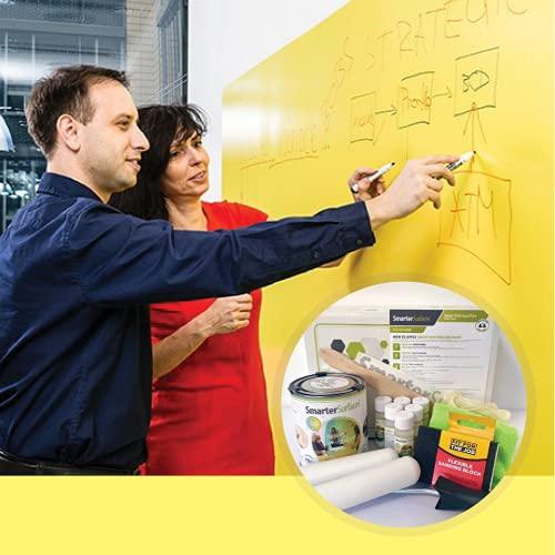 Smart Whiteboard Farbe 6m² Transparent - Wandeln Sie jede Wand in eine beschreibbare Oberfläche um - Trocken Abwischbare Wand *KOSTENLOSER EXPRESSVERSAND*