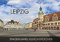 Leipzig - Spaziergang durch Epochen (Wandkalender 2022 DIN A2 quer): Durch alle Epochen von Romanik bis in die Moderne (Monatskalender, 14 Seiten )